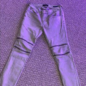 Pacsun Khaki Zipper Jeans